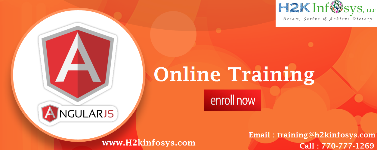 AngularJS Training provided by H2K Infosys LLC, US