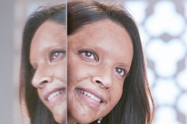 First Look of Deepika Padukone as Acid Attack Survivor